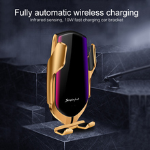 цена на Syrinx Automatic Clamping Wireless Car Charger For iphone x 8 Android Air Vent Phone Holder Charging Mount Bracket Stand Support