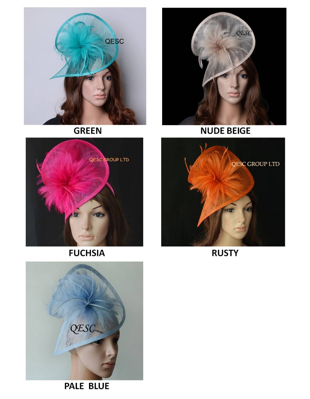 New ColorsHOT Sinamay Fascinator Hat In SPECIAL Shape W