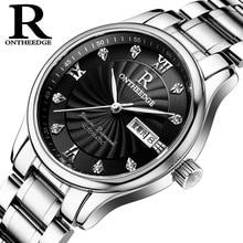 Mode Hommes de marque montres De Luxe quartz Mince mâle étanche Montres calendrier Diamant en acier inoxydable homme horloges 2017 nouveau