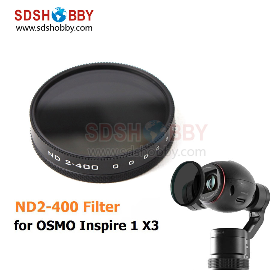 1pc Lens Filter ND Filter ND2-400 Filter Dimmer X3 Filter Camera Accessory for DJI OSMO/ OSMO+/ Inspire 1
