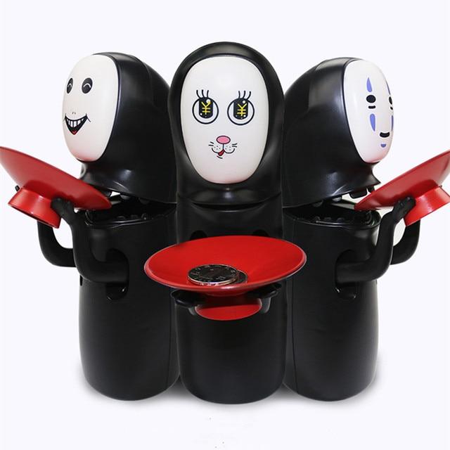 DROPSHIPPING Spirited Away Kaonashi sin cara hucha juguete Multi estilos Miyazaki Hayao Chihiro diseño automático comida banco de monedas