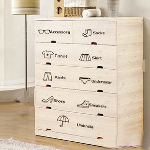 Free Ping Clification Of Kitchen Cabinet Drawer Wardrobe Cartoon Wall Stickers Ofhead