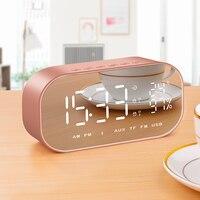 Temperatur Wecker Intelligente Drahtlose Bluetooth Uhr Multifunktions Digitale Tabelle mit Lautsprecher Home Mini LED Display