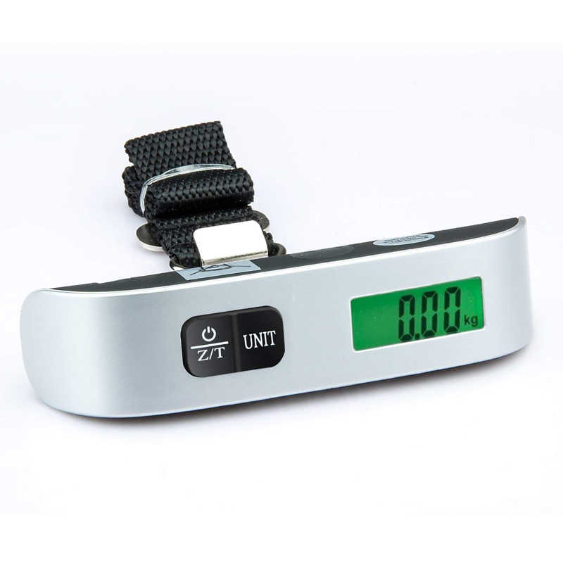 Digital Bagagem Escala 110lb/50 kg mini LCD Eletrônico Portátil Pendurado Escalas para Mala Mala de Viagem Saco de Peso Pesando escala de equilíbrio