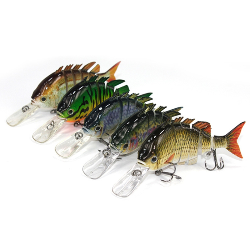 10CM 14G Multi Jointed Hard Bait Artificial Topwater Fishing Lure Ring Beads with Shifting Of Weight For Lake