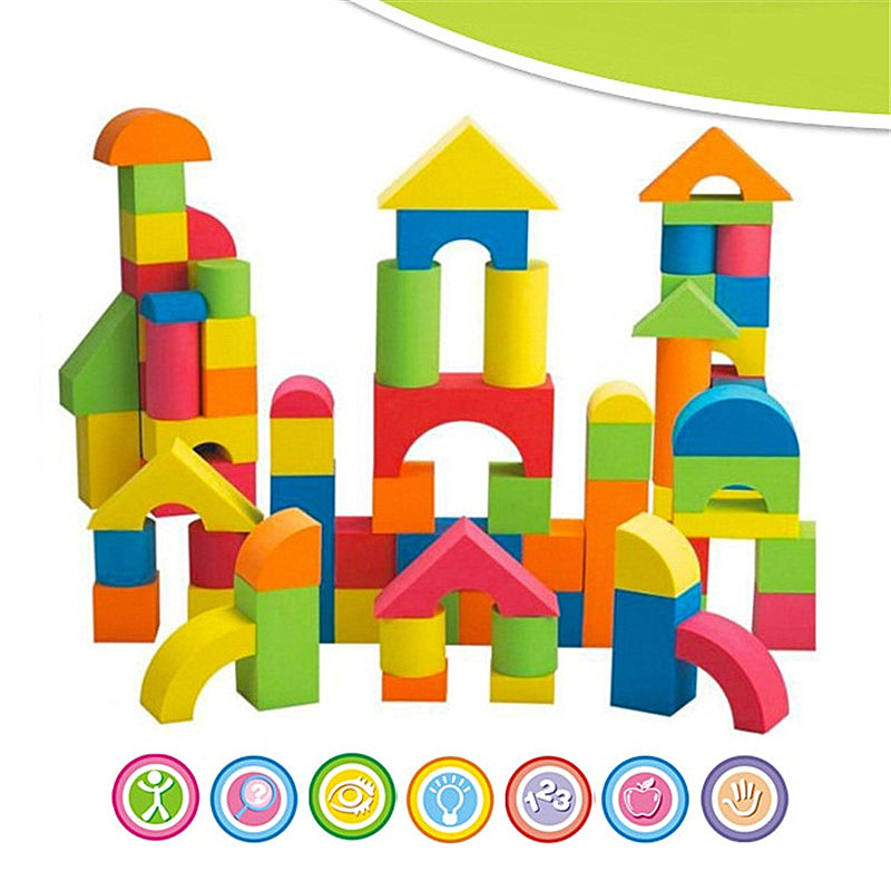41PCS EVA Building Blocks Set oyuncak soft toys for children boys game with kids Brinquedo Speelgoed 48pcs good quality soft eva building blocks toy for baby