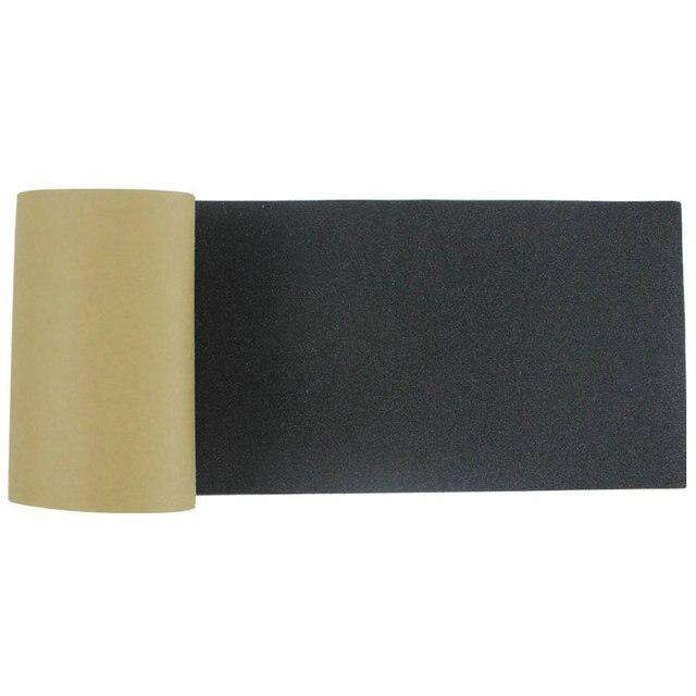משלוח חינם 115*27cm Longboard נייר זכוכית Griptape 125*27cm שחור מקצועי סקייטבורד סיליקון קרביד סקייט לוח gripTapes