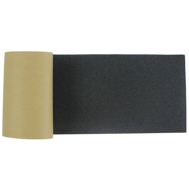 Livraison gratuite 115*27 cm Longboard papier de verre Griptape 125*27 cm noir professionnel planche à roulettes carbure de silicium planche à roulettes GripTapes