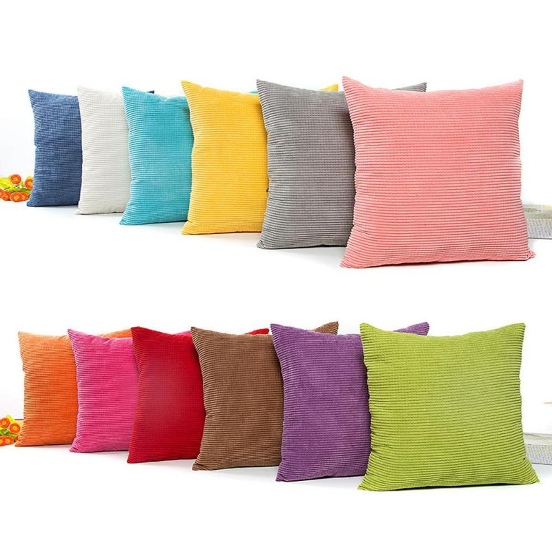 living room pillow covers 45 45cm solid color cushion cover corn kernels 14856