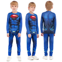 Children Fitness Tights Clothing Kids Boys Running Tracksuit Training Jogging Suits Sport Wear Clothes Compression Superman Sets