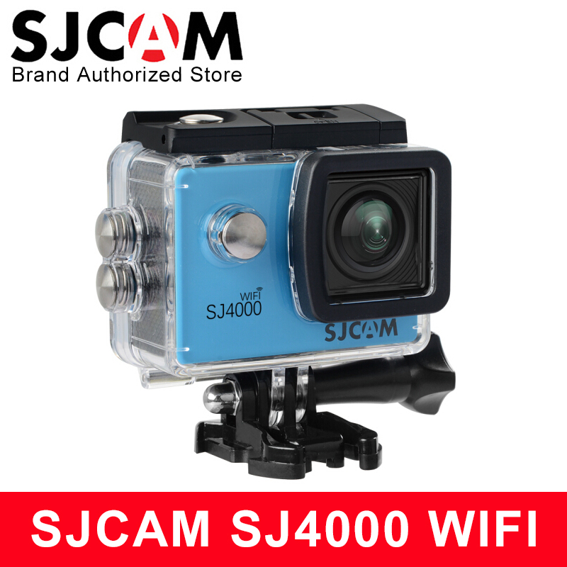 лучшая цена SJCAM SJ4000 WiFi Sports Action Camera 2.0 inch LCD Screen 1080P HD Diving 30M Waterproof mini Camcorder SJ 4000 Cam Sport DV