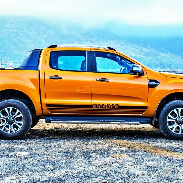 2 Pc Freies Shippping Aushöhlen Coole Styling Seite Körper Tür Streifen Taille Auto Aufkleber Für Ford Ranger
