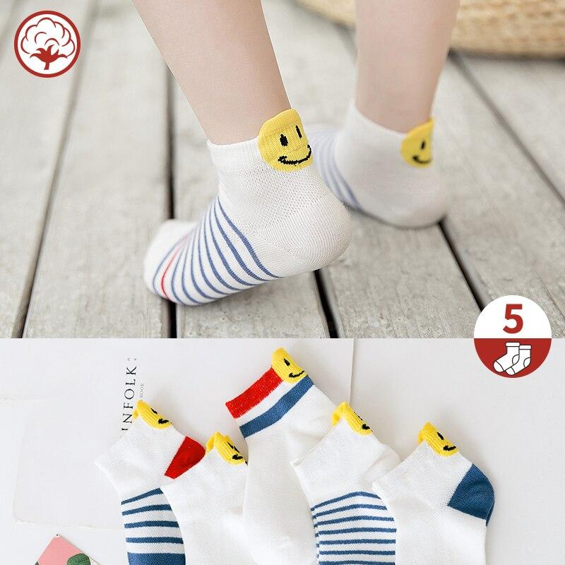 5Pairs/Lot Baby Boys Girls Socks Spring Summer Cotton Kids Socks Fashion Thin Mesh Children Socks Comfortable For 1-10Y