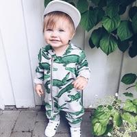 Infantile Salopette Manches Longues Floral Barboteuse Bébé Garçon Fille Vêtements Minuscule Cotons Nouveau-Né Bébé Onesie Tenue Globale Pyjamas