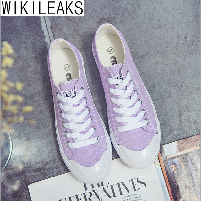 Wikileaks 2016 Women Casual Collage Style Solid Canvas Shoes Woman Flat With Lace-Up Black Classic Student Shoes Zapatos Mujer