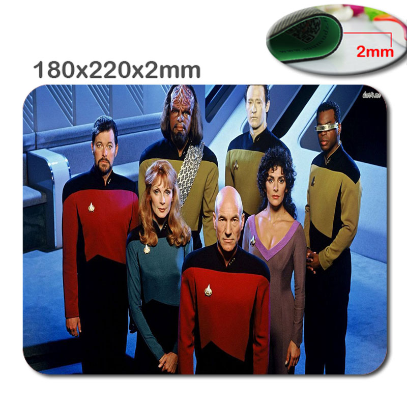 Custom star trek HD 3D printing PC mputer Gaming Mousepad Fabric + Rubber Material in 220mm*180mm*2mm - accessory and gift