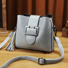 Genuine Leather Bags For Women 2018 Luxury Brand Patent Handbags Women Bags Designer Messenger Tassel Ladies Shoulder Bags T28(China)
