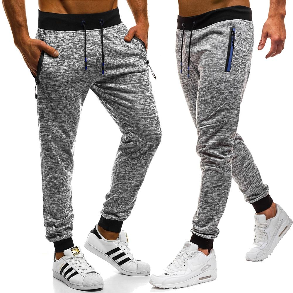 2019 Men's Athletic Pants New Fashion Athletic Pants Men's Casual Pants Jogger Stretch Pants High Quality