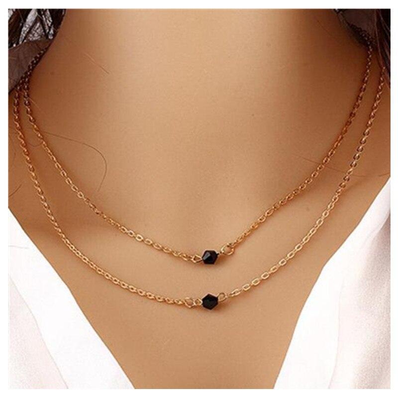 X349 модное простое богемное ожерелье с подвеской в виде сердца и Луны, женское многослойное колье золотого цвета, массивное ожерелье с подвеской - Окраска металла: X95 gold
