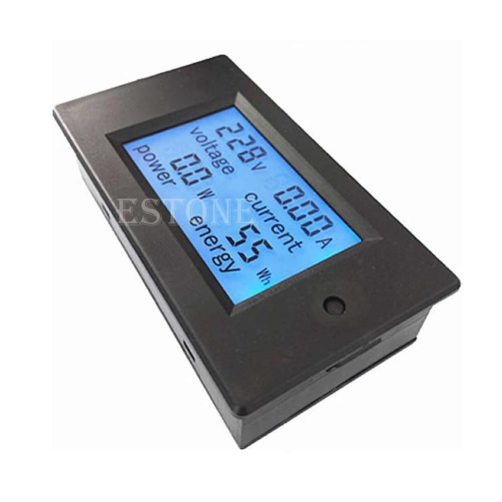 Ac Power Meter : Ac v lcd digital a volt watt power meter ammeter