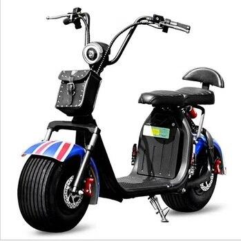 Citycoco-patinete eléctrico de 1500W, batería de litio extraíble, 20a, con dos asientos
