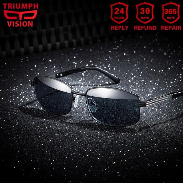 220096f785 TRIUMPH VISION Prescription Sunglasses Men Myopia Sun Glasses Polarized  Custom Glasses Diopter Sunglasses Black Glasses Shades