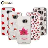CASEIER Téléphone étui pour samsung Galaxy S6 S7 Bord S8 Plus Note 8 TPU Souple Ultra-mince Cas Mignon Animaux 3D Couverture D'impression Capa