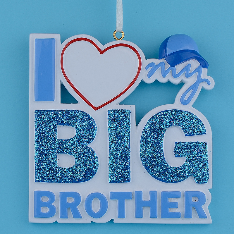 Big Brother Christmas Ornament Part - 41: I Love My Big Brother Sister Polyresin Glitter Christmas Tree Ornament  Personalized Gifts For Party Holiday Home Decoration