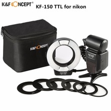 цена на Macro Ring Flash KF-150 Ring Flash Light Macro Ring Lite For Nikon D7100 D7000 D5300 D5200 D5100 D5000 D3200 D3100 D3300 D90