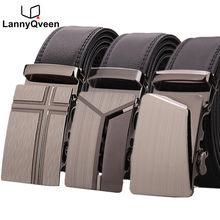 LannyQveen 100% Véritable ceintures En Cuir pour homme de marque personnalisé  Hommes Automatique boucle ceintures 289fd871d41