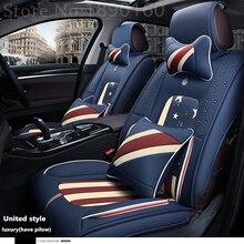 (Avant + Arrière) siège de voiture En Cuir spécial couvre Pour Hyundai solaris ix35 ix25 i30 Elantra accent tucson Sonate auto accessoires