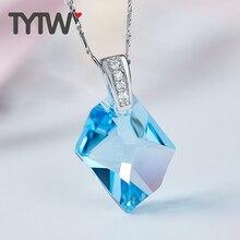 Tytw cristales de Swarovski Collares mujeres Colgantes Pentagram collar rodio joyería de moda austriaco Colgantes