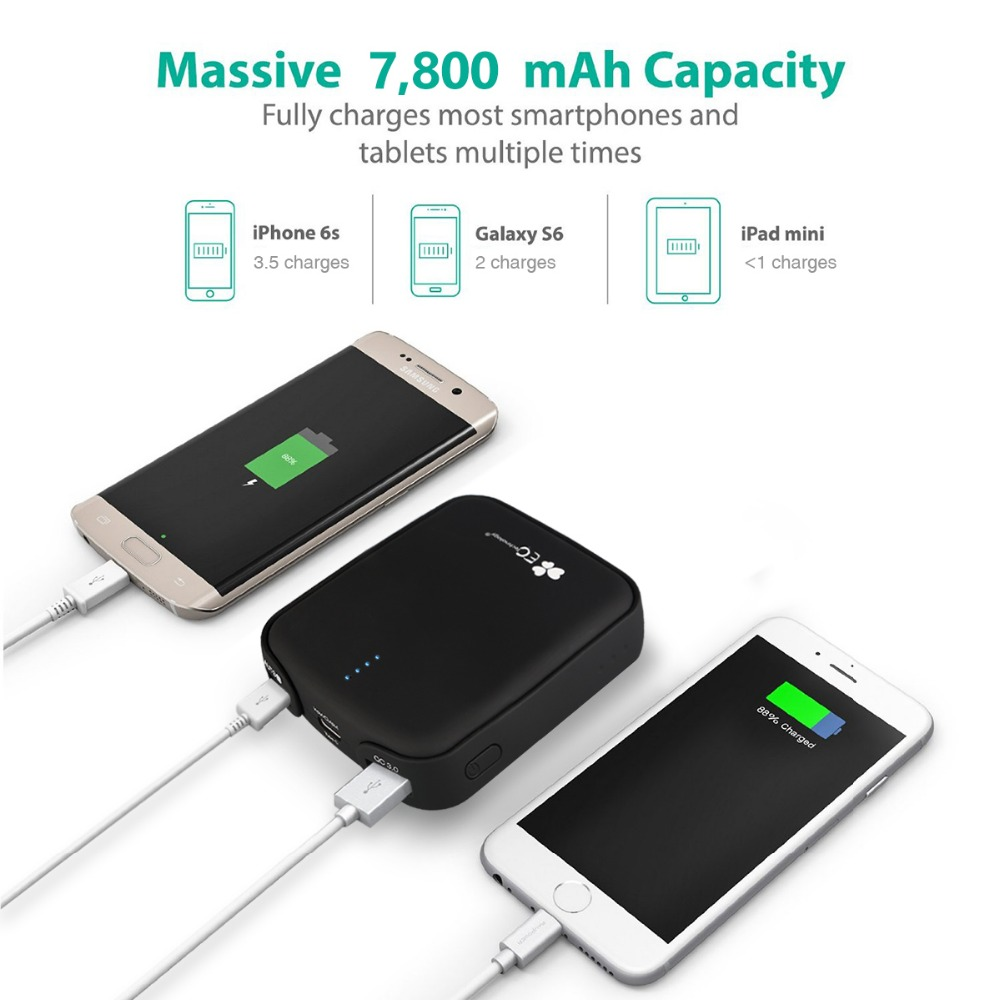 EC Technology 18650 Power Bank Charger Type C Pover Bank USB Mobile Backup For iphone Android Bateria Externa Power Bank