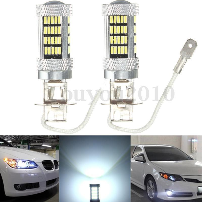 CYAN SOIL BAY H3 4014 LED 92 SMD High Power Car Fog Driving Light Bulb Lamp 6000K Red