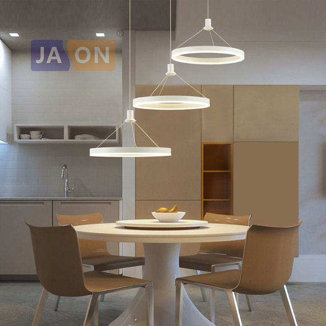 Nordic Fuhrte Legierung Acryl Ring Designer Led Lampe Led Licht