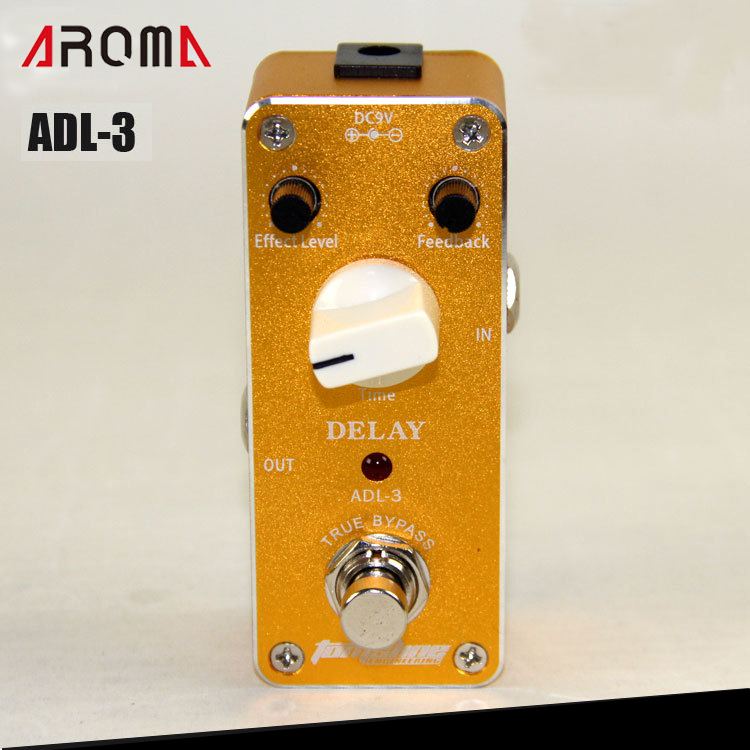 Aroma ADL-3 AC/DC Adapter Jack True Bypass Delay Guitar Effect Pedal aroma adl 1 aluminum alloy housing true bypass delay electric guitar effect pedal for guitarists hot guitar accessories
