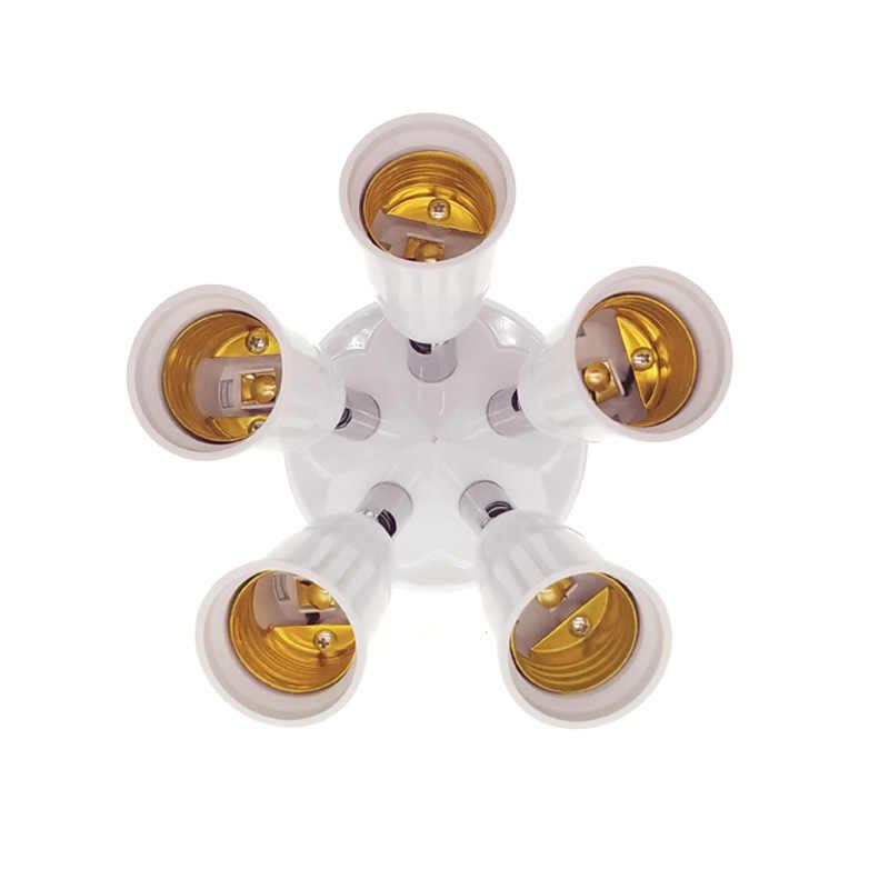 3/4/5 in 1 E27 LED Bulb Socket Splitter Lamp Base Fireproof Holder Adapter E27 Converter Socket lamp holder
