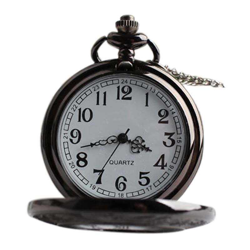New Arrival  Dual Display Clamshell Rome Retro Hollow Imitation Mechanical Unisex Men Women Pocket Watch Gift   LXH