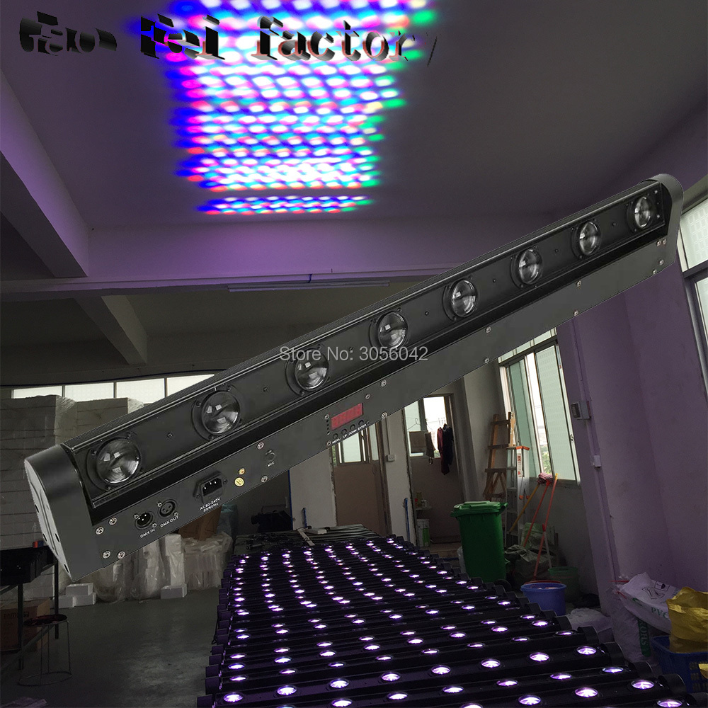 led bar beam moving 8x10w RGBW 4in1 8 eyes light or 8 beam washer light