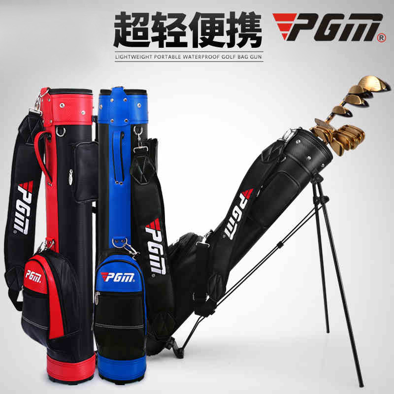 PGM Rack Golf Bag With Bracket Gun Bag For Men And Women 6 Colors Can Hold 9 Clubs Support A4756 crestgolf new nsr women golf bag club sets with half leather and nylon golf bag set sport golf club practice training sets