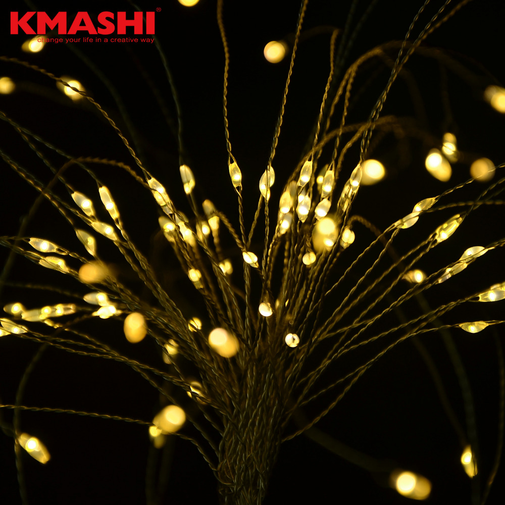 Kmashi 120 LEDs DIY LED Holdiay Lights Warm White String Lights Copper Wire Decorative Light For Fairy Christmas Wedding Party