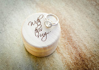 Personalized Wedding / Valentines Engagement Wooden Ring Bearer Box Personalised Rustic Wedding Ring Box Holder, Custom Ring Box