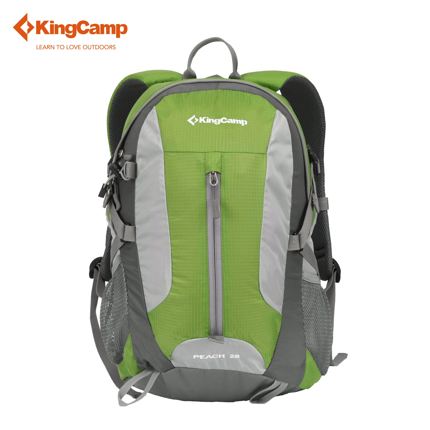 KingCamp 28L Travel Backpack With Rain Cover Lightweight Multi-function Waterproof Anti-Tear Day Pack for Outdoor Hiking Camping
