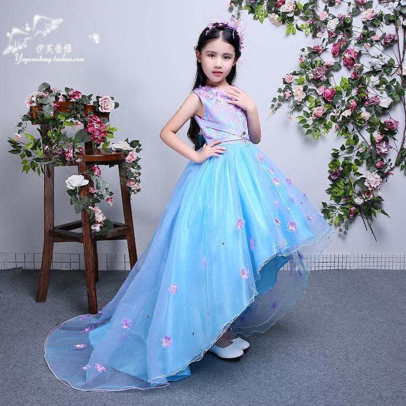 Us 56 98 Girls Long Maxi Dress Wedding Flower Tutu Dress Kids Fancy Party Christmas Elegant Girl Ball Gown 6 9 10 11 12 13 14 Years Old In Dresses