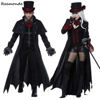 Adult Vampire Cosplay Costumes Black Queen Dresses Demon Gentleman Uniform Witch Role Playing For Men Women Halloween Clothes