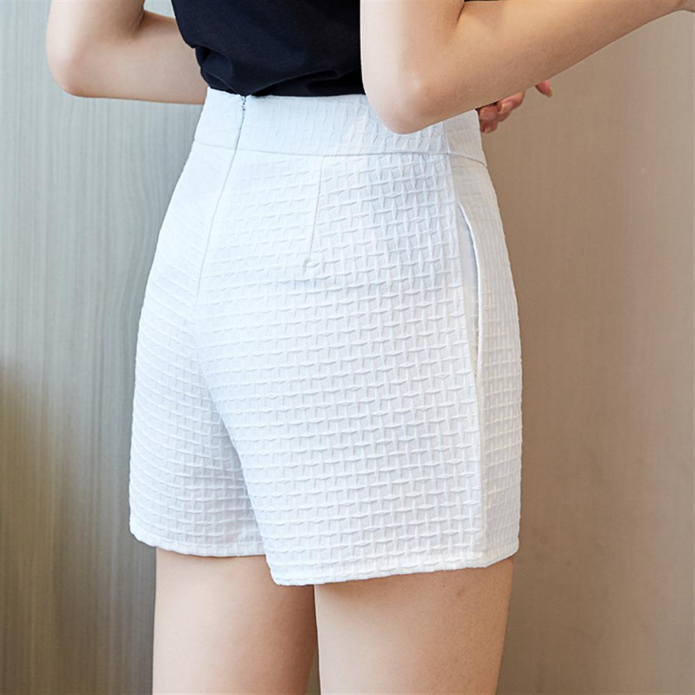 2018 new shorts wide leg womens summer wear high waist boots pants casual pockets plus size short pants white office lady short