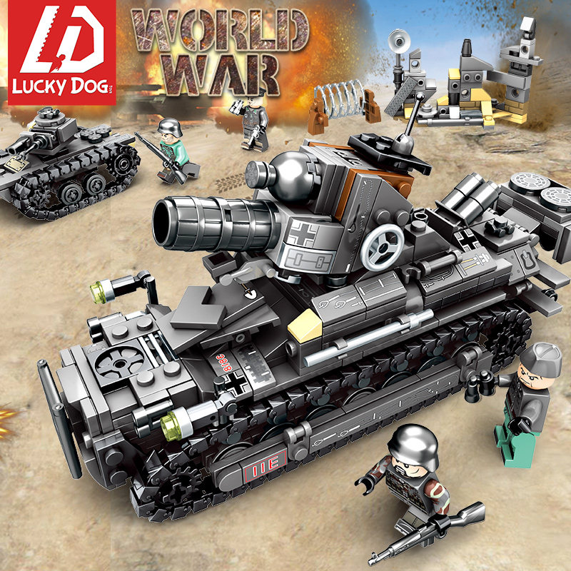 Building Blocks 957 Pcs 4In1 WW2 Germany Tank Army Toys LegoINGly Military Vehicles World War 2 Tank Figures Toys For Children
