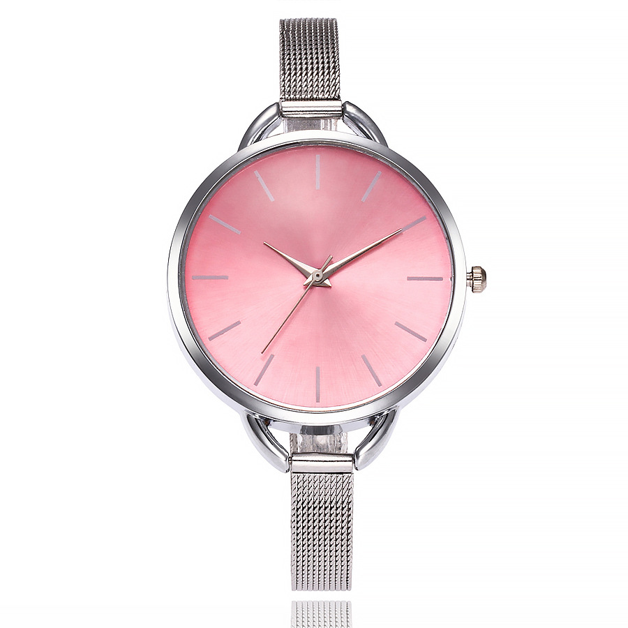 Relojes Mujer 2018 Simple Watch Women Female Clock Fashion Stainless Steel Mesh Band Women Watches Quartz Watch Montre Femme