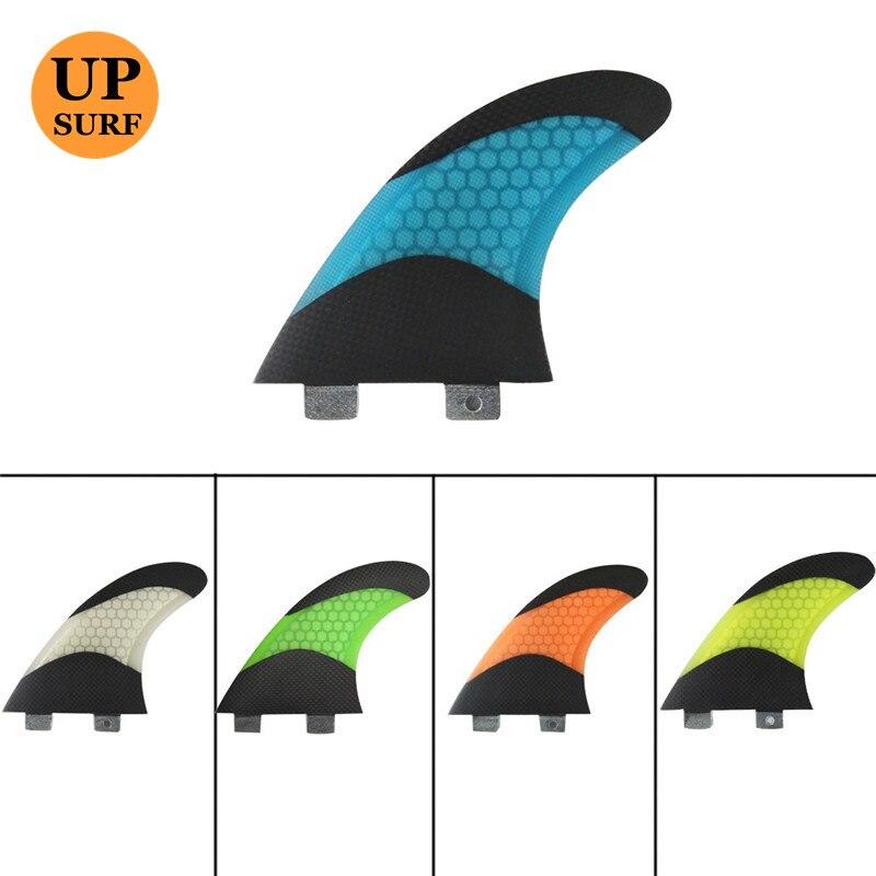 Planche de surf ailette FCS G7 ailerons Quilhas 5 couleurs et nageoire en nid d'abeille en fibre de verre noire