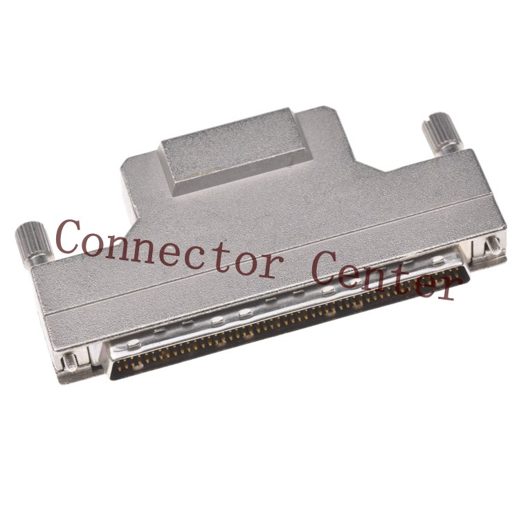 SCSI HPDB DB Connector  metal Hond   1.27mm 100Pin male Witch screw  Crimp ConnectorSCSI HPDB DB Connector  metal Hond   1.27mm 100Pin male Witch screw  Crimp Connector